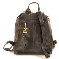 Hamosons – Medium sized leather backpack / city bag size M made out of nappa leather, black, model 559-6