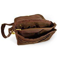 Hamosons Büffelleder 577 - Braune Damen Handtasche bzw. Umhängetasche, Aufsicht, Tasche geöffnet - 03