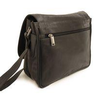 Hamosons Nappaleder 577 - Schwarze Damen Handtasche bzw. Umhängetasche, Rückansicht - 03