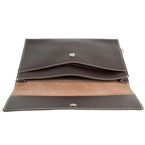 Hamosons – A4 document case / document holder made out of leather, brown, model 665
