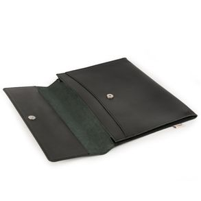 Hamosons – A4 document case / document holder made out of leather, black, model 665