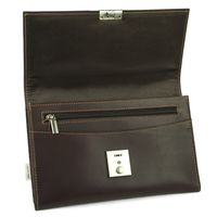 Jahn-Tasche – A5 document case / document holder made out of leather, brown, model 1021-3
