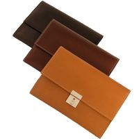 Jahn-Tasche – A5 document case / document holder made out of leather, cognac brown, model 1021-4