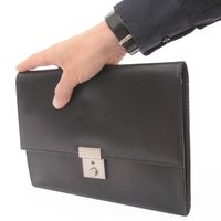 Jahn-Tasche – A5 document case / document holder, made out of leather, black, model 1021-5