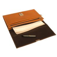Jahn-Tasche – A4 document case / document holder made out of leather, cognac brown, model 1022-3