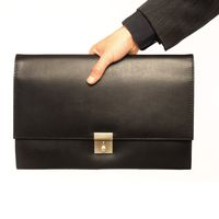 Jahn-Tasche – Exclusive A4 document case / document holder made out of leather, black, model 1022