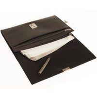 Jahn-Tasche, 1022 - Schwarze A4 Aktenmappe bzw. Dokumentenmappe, Aufsicht geöffnet - 03