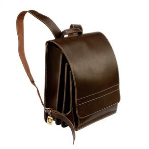Jahn-Tasche – Very Large leather backpack / teacher backpack size XL made out of leather, brown, model 670