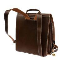 Jahn-Tasche, 670 - Großer, brauner Lederrucksack bzw. Lehrerrucksack, Rückansicht - 02