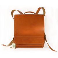 Jahn-Tasche – Sehr Großer Lederrucksack / Lehrer-Rucksack Größe XL aus Leder, Cognac-Braun, Modell 670