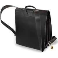 Jahn-Tasche, 670 - Großer, schwarzer Lederrucksack bzw. Lehrerrucksack, Rückansicht - 04
