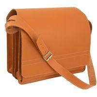 Jahn-Tasche – Große Aktentasche / Lehrertasche Größe XL aus Leder, Cognac-Braun, Modell 675