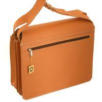 Jahn-Tasche, 675 - Große, cognac-braune Aktentasche bzw. Lehrertasche, Rückansicht - 04