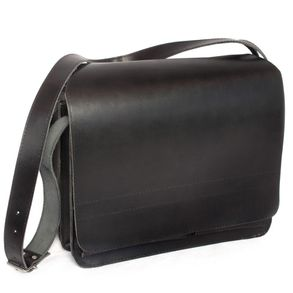 Jahn-Tasche – Large briefcase / teacher bag size XL made out of leather, black, model 675