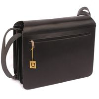 Jahn-Tasche – Large briefcase / teacher bag size XL made out of leather, black, model 675-3