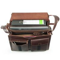 Jahn-Tasche – Large briefcase / teacher bag size XL made out of leather, brown, model 676-2