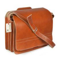 Jahn-Tasche – Große Aktentasche / Lehrertasche Größe XL aus Leder, Cognac-Braun, Modell 676