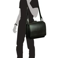 Jahn-Tasche – Large briefcase / teacher bag size XL made out of leather, black, model 676-5