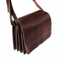 Jahn-Tasche – Very Large briefcase / teacher bag size XXL made out of leather, brown, model 677