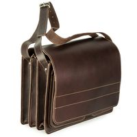 Jahn-Tasche – Very Large briefcase / teacher bag size XXL made out of leather, brown, model 677-2