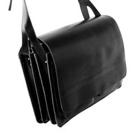 Jahn-Tasche – Very Large briefcase / teacher bag size XXL made out of leather, black, model 677-4