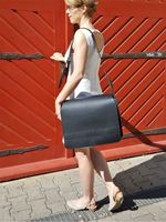 Jahn-Tasche – Very Large briefcase / teacher bag size XXL made out of leather, black, model 677-11