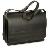 Jahn-Tasche – Very Large briefcase / teacher bag size XXL made out of leather, black, model 677-2