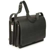 Jahn-Tasche – Very Large briefcase / teacher bag size XXL made out of leather, black, model 677-3