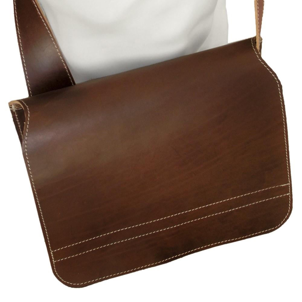 3554b2f73b8d2 Messenger-Bag Leder Braun