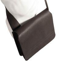 Jahn-Tasche – Umhängetasche Größe M / Messenger Bag aus Leder, Schwarz, Modell 680