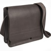 Jahn-Tasche, 680 - Mittelgroße, schwarze Umhängetasche bzw. Messenger Bag, Seitenansicht - 02