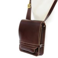 Jahn-Tasche – Small shoulder bag size S / handbag made out of  leather, A5 upright format, brown, model 684