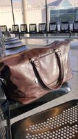 Jahn-Tasche – Large travel bag / weekend bag size L made out of nappa leather, brown, model 697-8