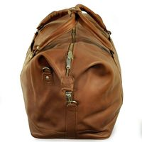 Jahn-Tasche – Large travel bag / weekend bag size L made out of nappa leather, cognac brown, model 697-5