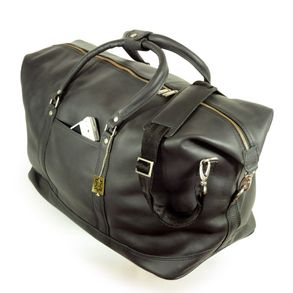 Jahn-Tasche – Large travel bag / weekend bag size L made out of nappa leather, black, model 697