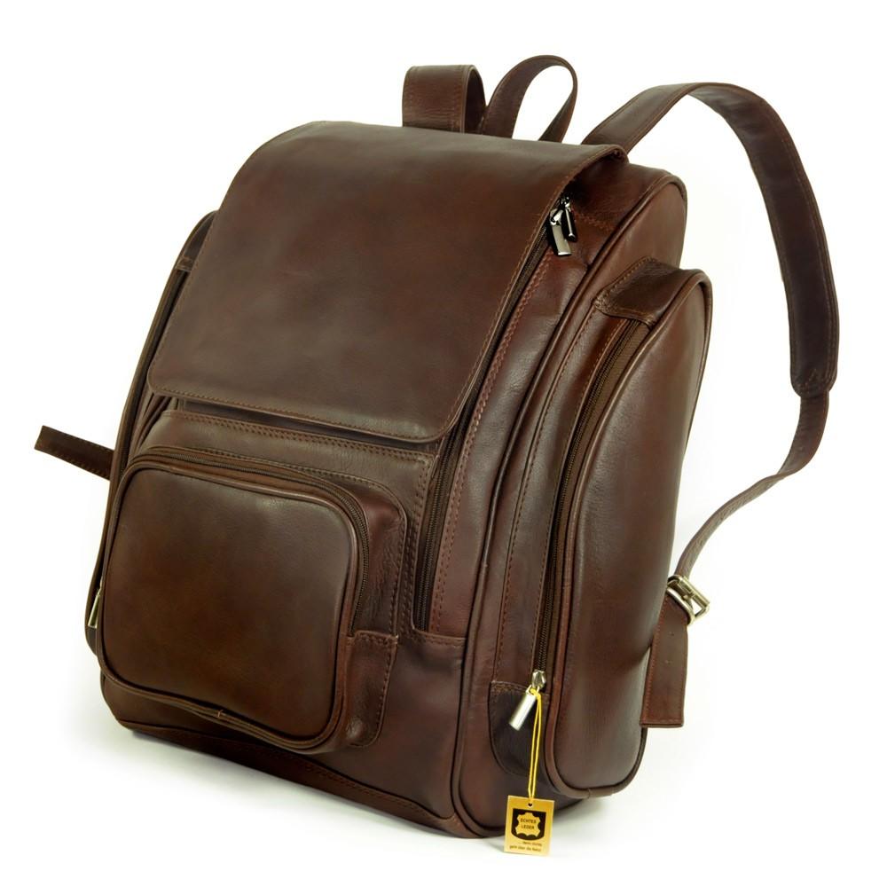 gro er rucksack laptop rucksack 709 leder braun. Black Bedroom Furniture Sets. Home Design Ideas