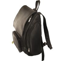 Jahn-Tasche – Very Large leather backpack size XL / laptop backpack up to 15.6 inches, black, model 709-2