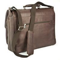 Jahn-Tasche – Elegant briefcase size L / laptop bag up to 15.6 inches, made out of Nappa leather, brown, model 750