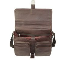 Jahn-Tasche – Elegant briefcase size L / laptop bag up to 15.6 inches, made out of Nappa leather, brown, model 750-3