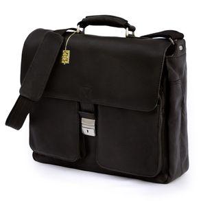 Jahn-Tasche, 750 - Elegante, schwarze Aktentasche bzw. Laptoptasche, Seitenansicht - 01