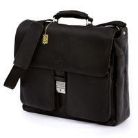 Jahn-Tasche – Elegante Aktentasche Größe L / Laptoptasche bis 15,6 Zoll, aus Nappa-Leder, Schwarz, Modell 750