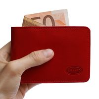 Branco – Small wallet / coin purse size XS, made out of leather, red, model 12022-4