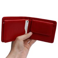 Branco – Small wallet / coin purse size XS, made out of leather, red, model 12022-6