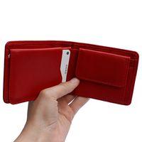 Branco, 12022 - Kleine Geldbörse bzw. Mini Portemonnaie aus Leder in Rot, Frontansicht aufgeklappt - 02