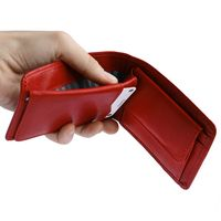 Branco – Small wallet / coin purse size XS, made out of leather, red, model 12022-7