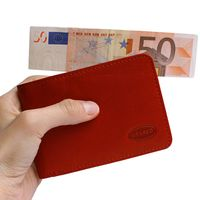 Branco – Small wallet / coin purse size XS, made out of leather, red, model 12022-3