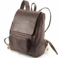 Jahn-Tasche – Großer Lederrucksack Größe L / Laptop-Rucksack bis 15,6 Zoll, Braun, Modell 711