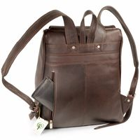 Jahn-Tasche – Large leather backpack size L / laptop backpack up to 15.6 inches, brown, model 711-6