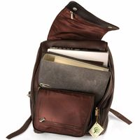 Jahn-Tasche – Large leather backpack size L / laptop backpack up to 15.6 inches, brown, model 711-5