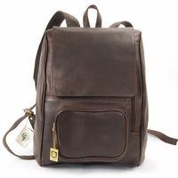 Jahn-Tasche 711 - Großer, brauner Lederrucksack bzw. Laptop Rucksack, Frontansicht - 01
